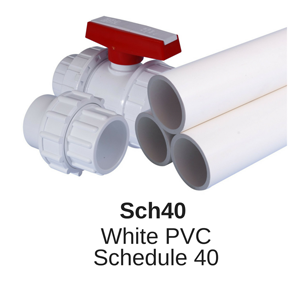 Schedule 80 UPVC high pressure piping for up to 16 bar North American USA specification with BSP and NPT threads
