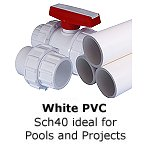 White PVC Swimming Pool Pipe