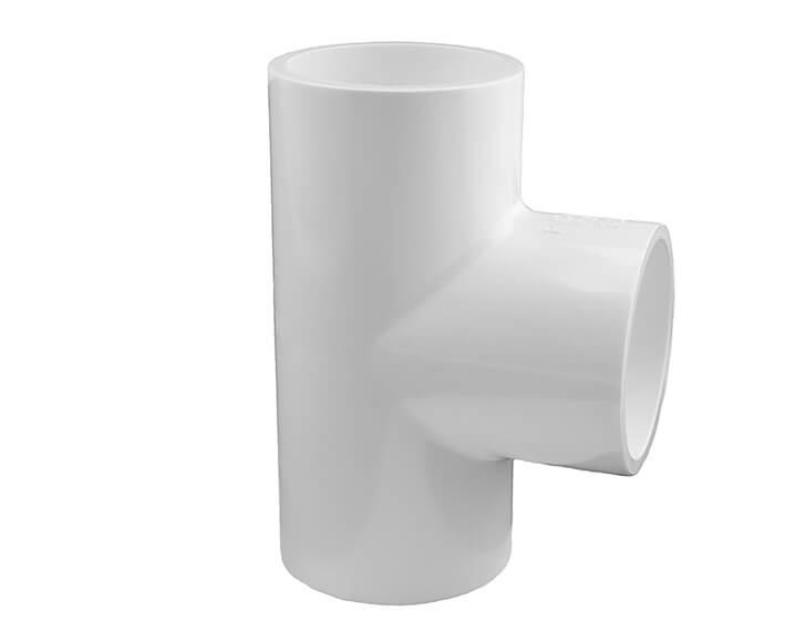 6 Inch Tee 90 degree white PVC Schedule 40