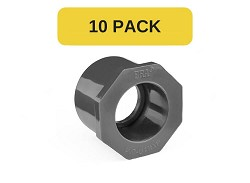 "10 Pack - 1"" : 3/4"" Plain PVC Reducing bush"