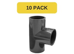 10 Pack - 20mm Plain 90 Degree PVC Tee