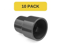 10 Pack - 40x32mm Plain PVC Reducing Socket