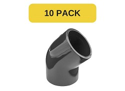 10 Pack - 25mm Plain 45 Degree PVC Elbow