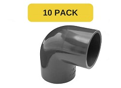 10 Pack - 110mm Plain 90 Degree PVC Elbow
