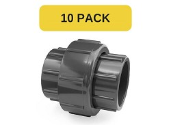 10 Pack - 40mm Plain PVC Union EPDM O-ring