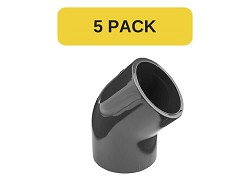 5 Pack - 160mm Plain 45 Degree PVC Elbow