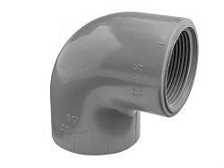 "1/2"" ABS Plain/Threaded 90 degree Elbow"