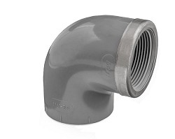 "3/4"" ABS Plain/Threaded 90 degree Elbow reinforced"