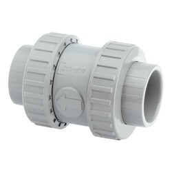 1 1/4 Inch CPVC Cement Sockets Non-return valve (cone) FPM Seals