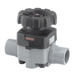 Corzan Metric CPVC Diaphragm Valve FPM Spg End 75mm