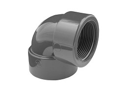 "1"" Threaded BSP PVC 90 Deg Elbow"