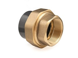"2 1/2"" Plain : FBSP PVC x Brass Composite Union"