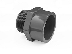 "1"" Plain Socket : Male BSP PVC Threaded Adaptor"