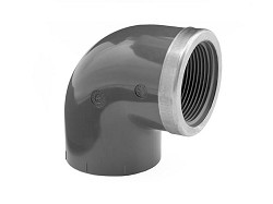 "1 1/2"" Plain : FBSP Reinforced PVC Elbow"