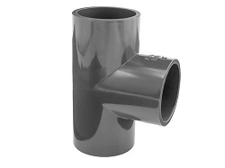 "2 1/2"" Plain 90 Degree PVC Tee"