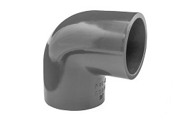 "1/2"" Plain 90 Degree PVC Elbow"