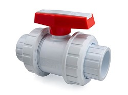 "2"" Double union ball valve - white"