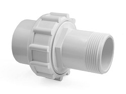 "1 1/2"" White MBSP : Plain Socket Union"