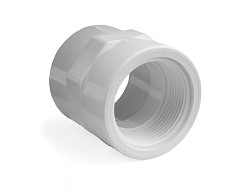 "1 1/2"" White ABS P/T Socket"