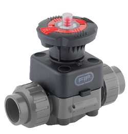 "4"" ABS Diaphragm Valve with spigot ends EPDM Diaphragm"
