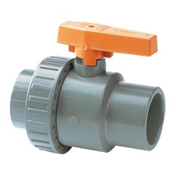 "3/4"" ABS Standard Plain Single Union Ball Valve EPDM"