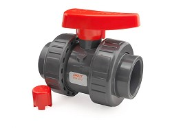 "1/2"" Industrial Double Union PVC Ball Valve EPDM O-Rings"