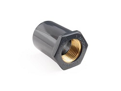"25mm Socket x 1/2"" Copper Thread Coupling"