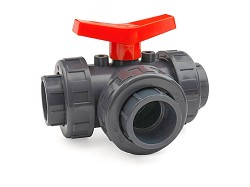63mm 3 Way Ball Valve T-Port EPDM O-Rings