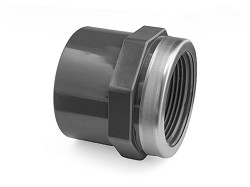 "25mm-3/4"" Plain : BSP Threaded Reinforced PVC Socket"