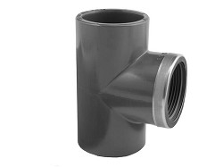 "32mm-1"" Plain : BSP Threaded Reinforced PVC 90 Deg Tee"