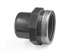 "25mm-3/4"" Plain Spigot : FBSP Reinforced PVC Adaptor"