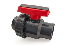 75mm Single Union PVC Ball Valve EPDM O-Rings