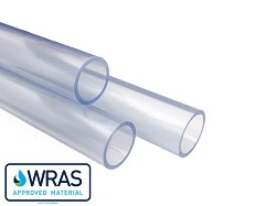 "1/2"" Clear PVC Pipe 3m Length"