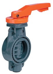 6 Inch CPVC Lever Operated Butterfly Valve FPM Seals